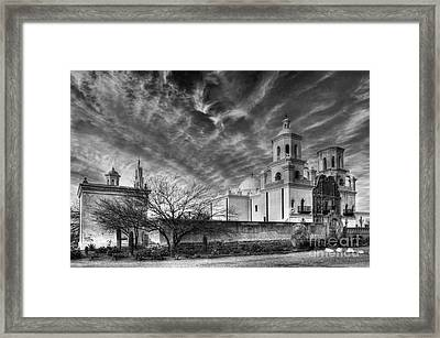 San Xavier Del Bac Monochrome Framed Print by Bob Christopher