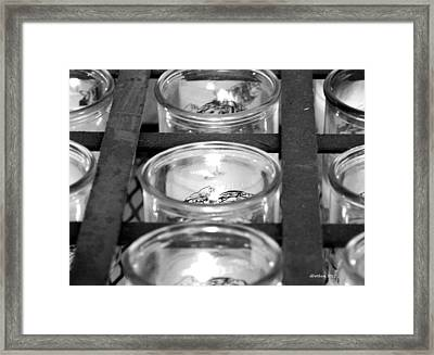 San Xavier Prayer Candles Framed Print