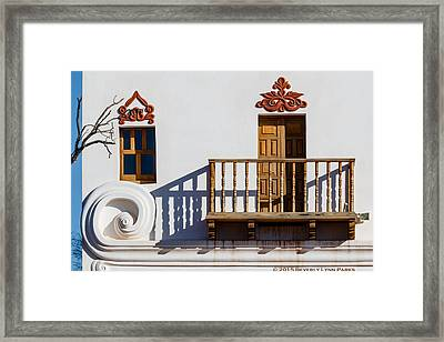 Framed Print featuring the photograph San Xavier Swirl by Beverly Parks