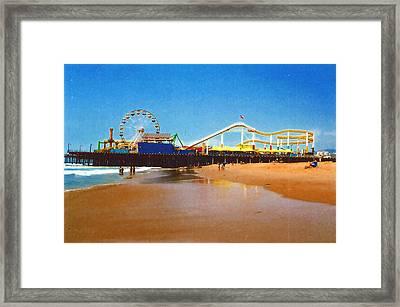 Framed Print featuring the photograph Sana Monica Pier by Daniel Thompson