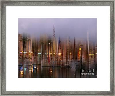 Sanary Surreal Framed Print