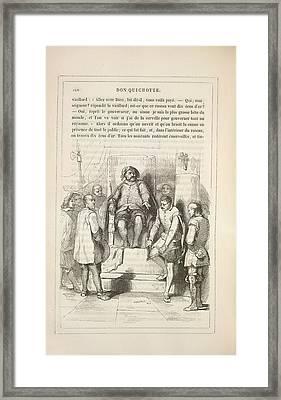 Sancho Panza Framed Print by British Library