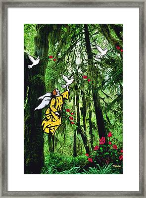 Framed Print featuring the digital art Sanctuary by Mary Anne Ritchie
