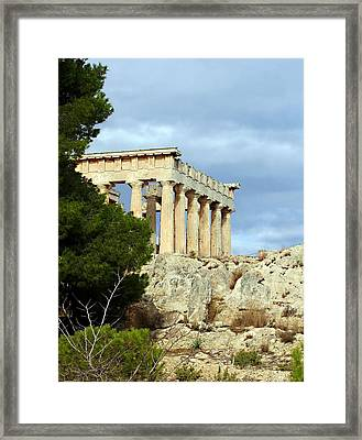 Sanctuary Of Aphaia 2 Framed Print by Ellen Henneke