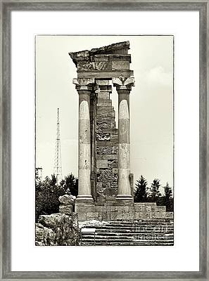 Sanctuary Of Apollo Hylates Framed Print by John Rizzuto