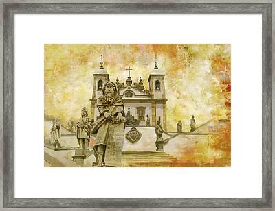 Sanctuary Of Bom Jesus Do Congonhas  Framed Print by Catf