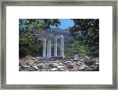 Sanctuary Of Gods-goddesses Framed Print