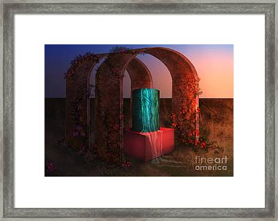 Sanctuary Of Light Framed Print by Rosa Cobos