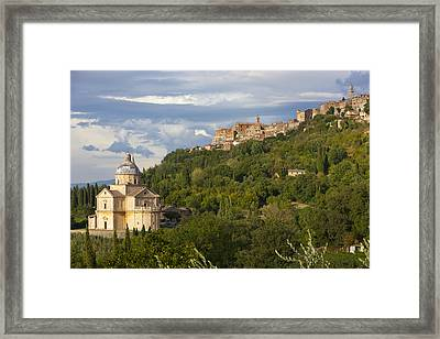 Sanctuary Of San Biagio Framed Print by Sebastian Wasek