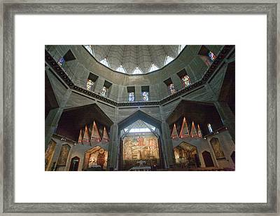 Sanctuary Of The Basilica Framed Print by Dave Bartruff