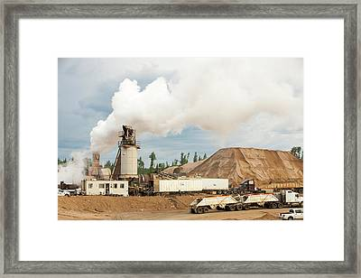 Sand And Gravel Strip Mine Framed Print by Ashley Cooper