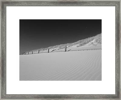 Sand And Moon B W Framed Print