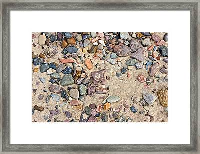 Sand And Pebbles Framed Print