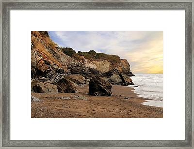 Sand And Rocks Framed Print