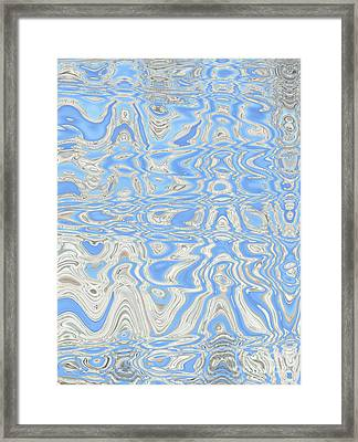Sand And Sea Abstract Framed Print by Carol Groenen