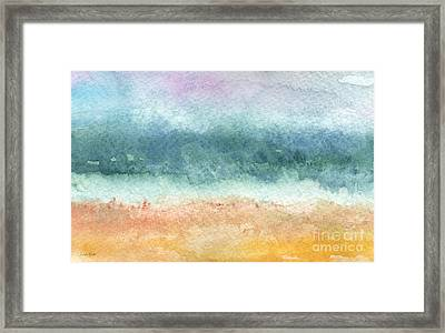 Sand And Sea Framed Print by Linda Woods