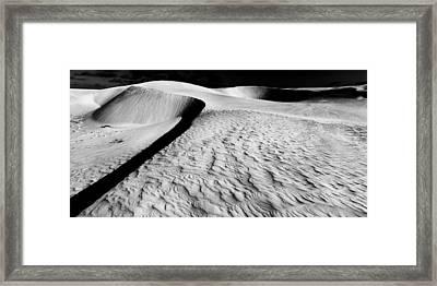 Sand And Shadows Framed Print