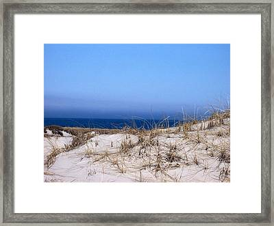 Sand And Sky Framed Print by Catherine Gagne