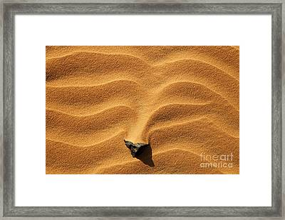 Sand And Stone Framed Print by Robert Preston