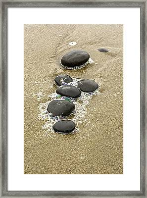Sand And Stones Framed Print