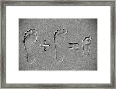 Sand Arithmetic Framed Print