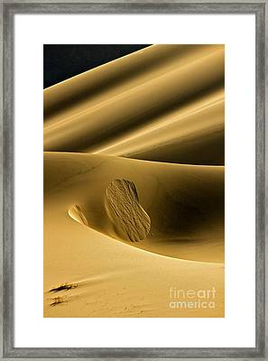 Sand Avalanche Framed Print by Michael Cinnamond