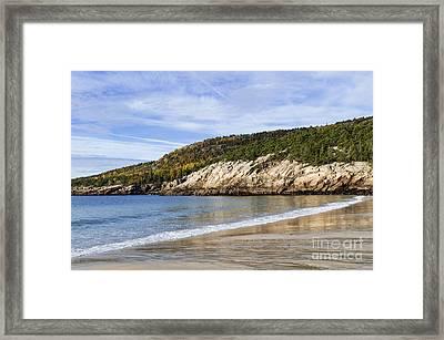Sand Beach Acadia Framed Print