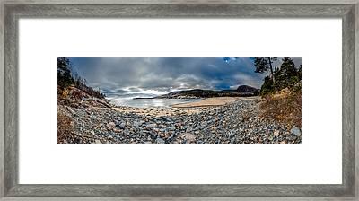 Sand Beach At Acadia Framed Print
