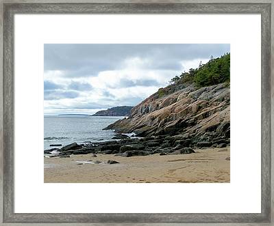 Framed Print featuring the photograph Sand Beach by Gene Cyr