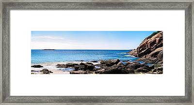 Framed Print featuring the photograph Sand Beach Rocky Shore   by Lars Lentz