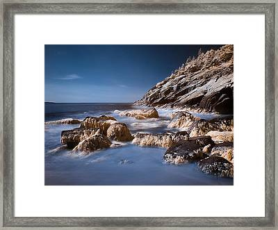 Framed Print featuring the photograph Sand Beach by Steve Zimic