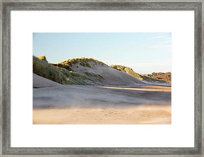 Sand Blowing In A Sand Storm Framed Print