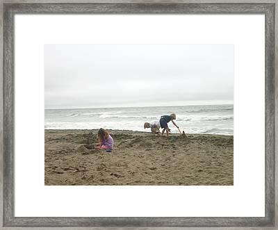Sand Castle Framed Print by Hiroko Sakai