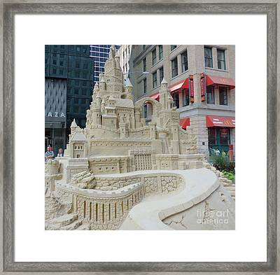 Sand Castle Framed Print by James Dolan