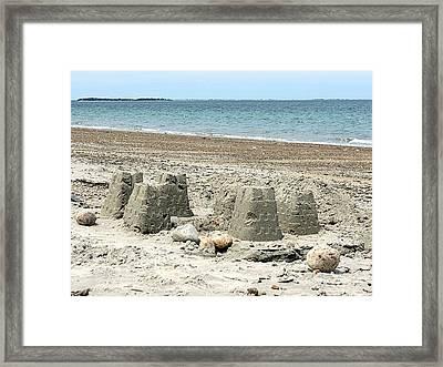 Sand Castle Framed Print by Janice Drew