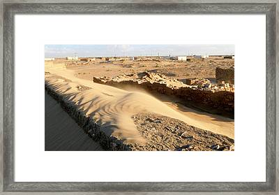 Sand-covered Abandoned Homes Framed Print by Thierry Berrod, Mona Lisa Production