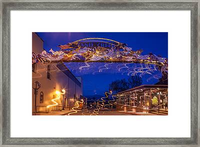 Sand Creek At Night Framed Print by Marie-Dominique Verdier