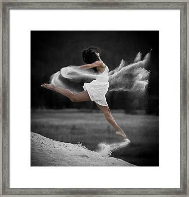 Sand Dance Framed Print by Marie-Dominique Verdier