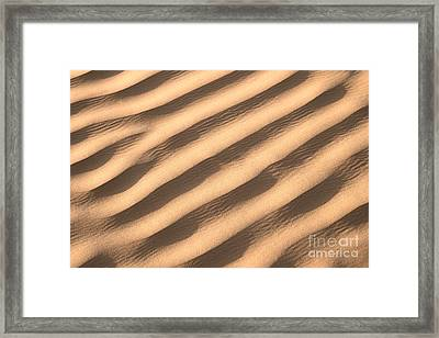 Sand Framed Print by Delphimages Photo Creations