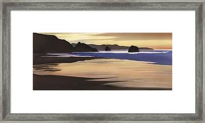 Sand Dollar Beach Framed Print