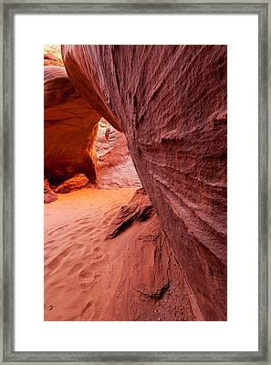 Framed Print featuring the photograph Sand Dune Arch by Jay Stockhaus