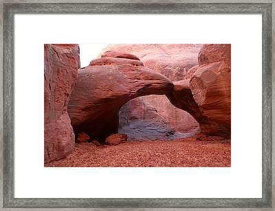 Sand Dune Arch Framed Print