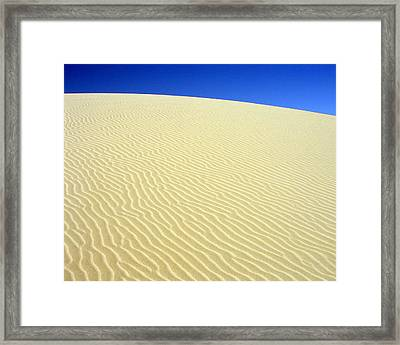 Framed Print featuring the photograph Sand Dune by Ramona Johnston