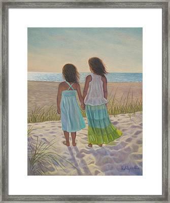Sand Dune Stroll Framed Print