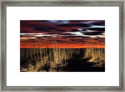 Sand Dune Sunrise Framed Print by JC Findley