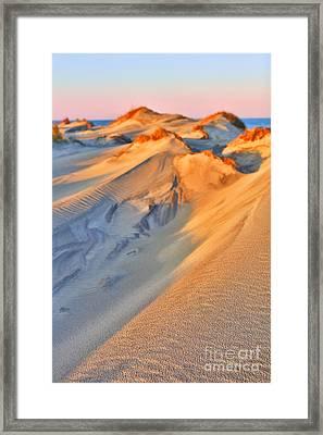 Sand Dune Sunset - Outer Banks Framed Print by Dan Carmichael