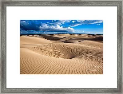 Sand Dune Vortex Framed Print