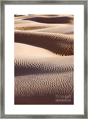 Sand Dunes 2 Framed Print by Delphimages Photo Creations