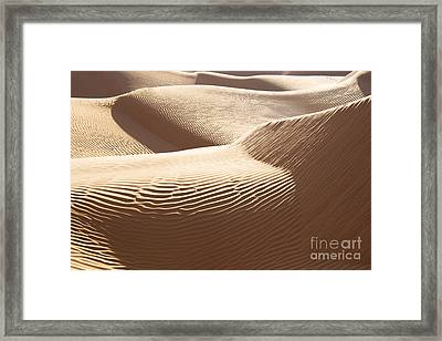 Sand Dunes 3 Framed Print by Delphimages Photo Creations
