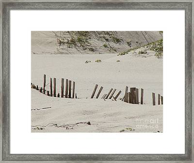 Sand Dunes At Gulf Shores Framed Print